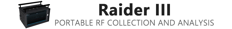 Raider III Portable RF Spectrum Collection and Analysis